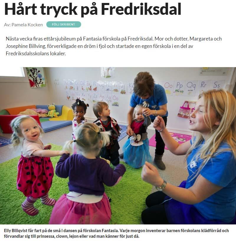 Hårt tryck på Fredriksdal