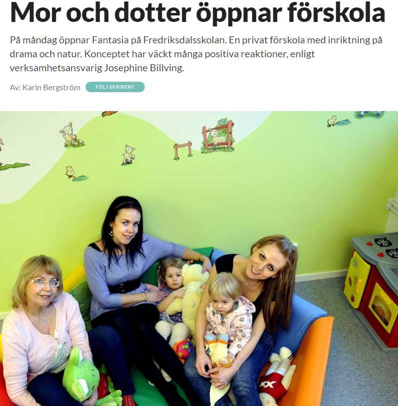 Mor och dotter öppnar förskola